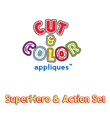 Cut & Color™ SuperHero & Action Set