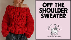 Off the Shoulder Sweater: How to Knit Cables