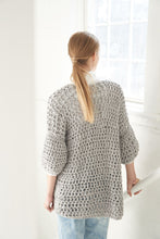 Load image into Gallery viewer, Crochet Cardigan PATTERN- Big Cotton