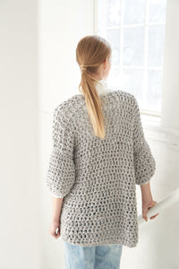 Crochet Cardigan PATTERN- Big Cotton