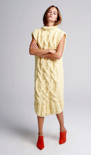 Long Cable Dress - Merino