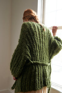Fisherman Rib Cardigan - Mohair