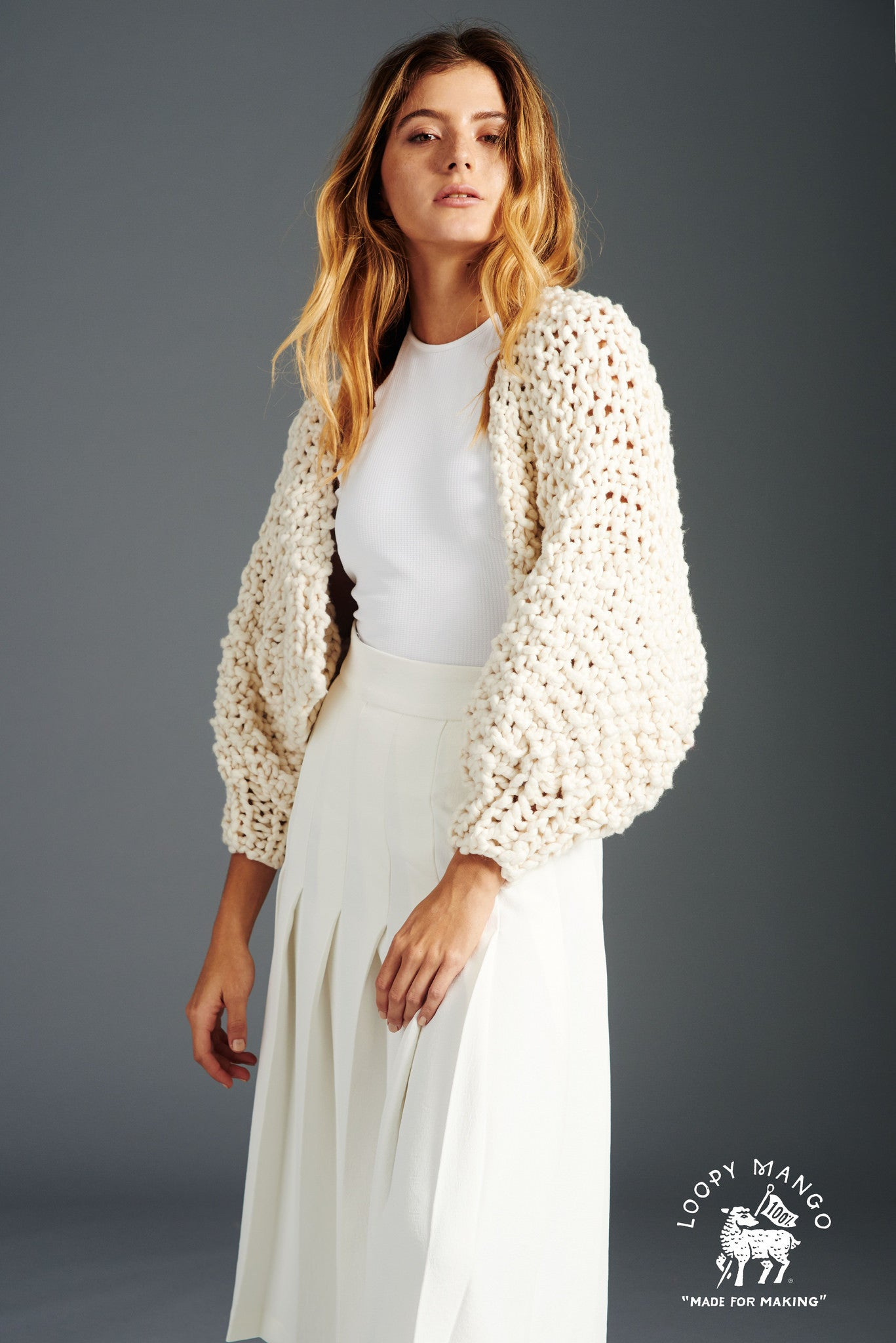 Big Cotton Super Cropped Cardigan