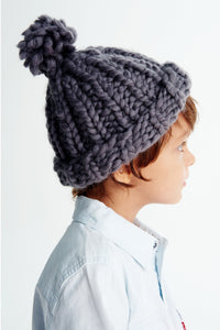 Mini Pompom Beanie 2-4 years-Merino