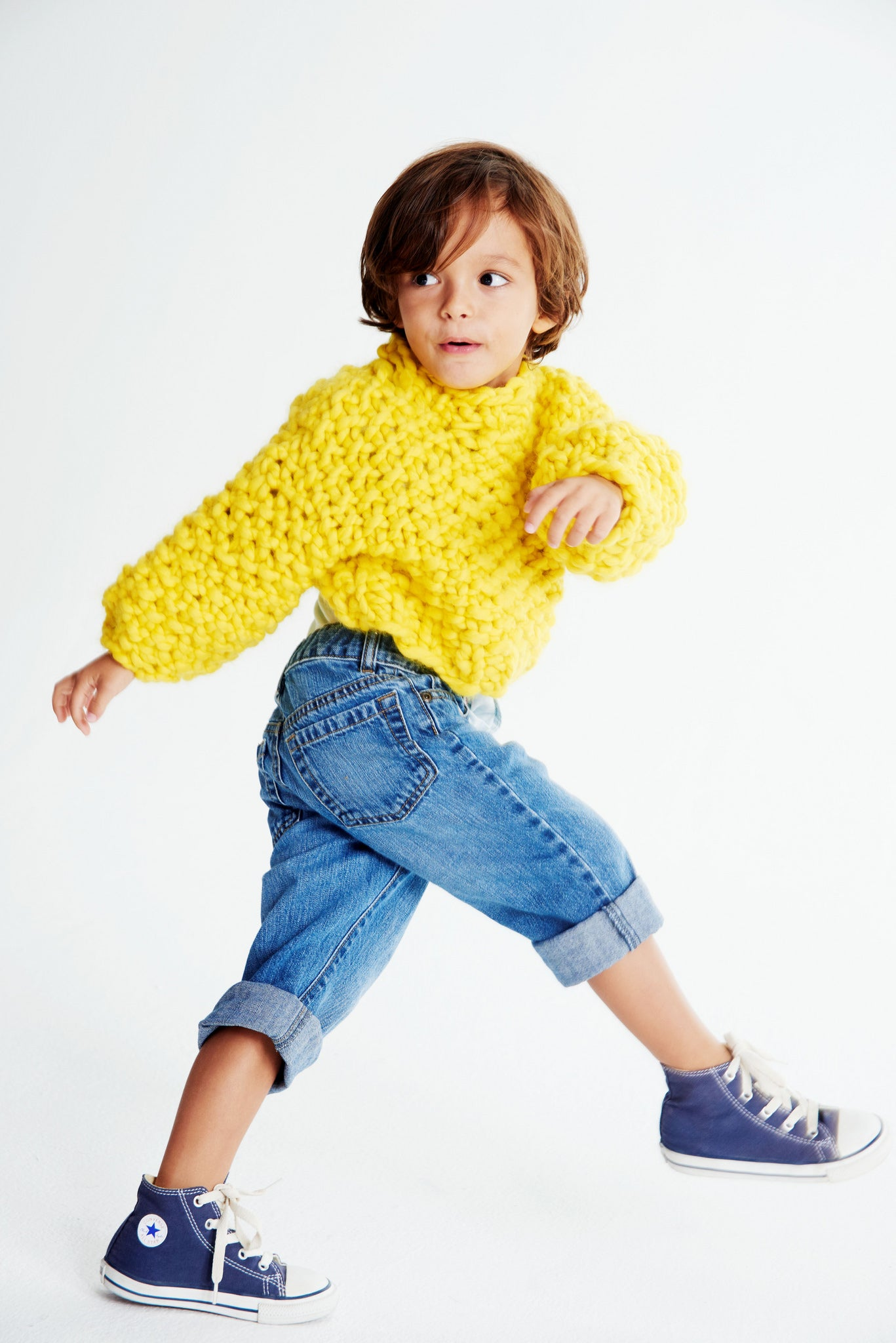 Mini Cropped Sweater 2-4 years - Merino