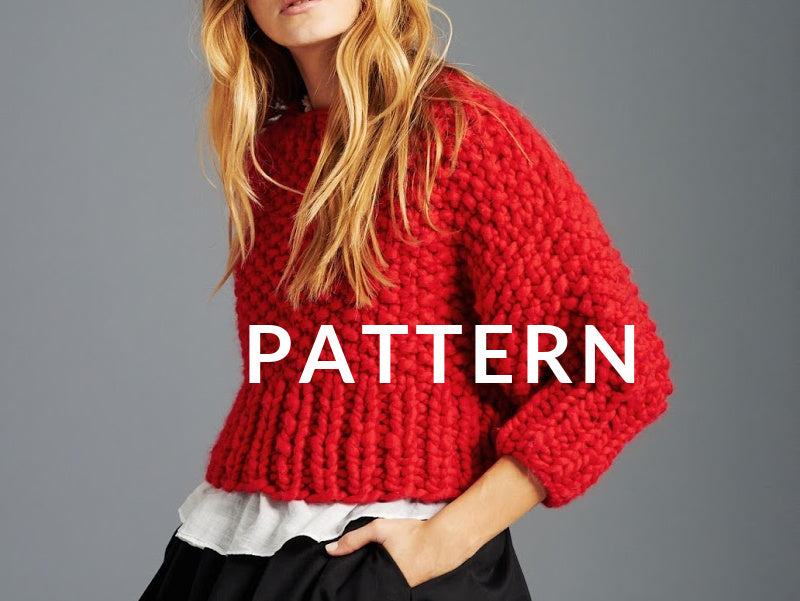 Super Cropped Sweater PATTERN- Merino No. 5