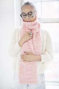 DIY Kit - Mixed Garter Stitch Scarf - Dream (Merino Worsted)