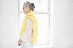DIY Kit - Mixed Garter Stitch Scarf - Merino Worsted