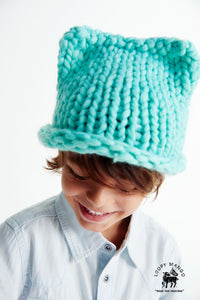 DIY Kit - Mini Kitty Hat 2-4 years - Merino No. 5
