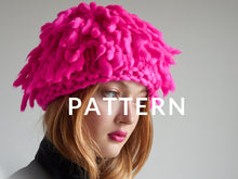 Load image into Gallery viewer, Fringe Hat PATTERN - Merino No. 5