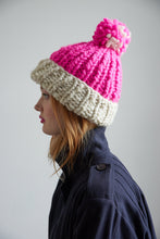 Load image into Gallery viewer, DIY Kit - Two Tone Pompom Beanie - Merino No. 5