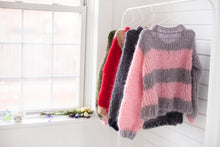 Load image into Gallery viewer, DIY Kit - Lucky Stripe Sweater - Mohair So Soft