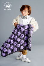 Load image into Gallery viewer, DIY Kit - Aster Flower Baby Blanket - Merino No. 5