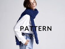 Load image into Gallery viewer, Fisherman Rib Scarf PATTERN - Merino No. 5