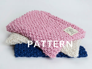 Cotton Baby Blanket PATTERN- Big Cotton