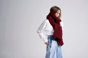DIY Kit - Long Fisherman Rib Scarf - Merino No. 5