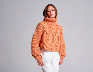 Cropped Urban Fisherman Sweater - Merino