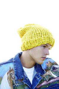 Slouchy Beanie-with AND without pompom PATTERN - Merino No. 5