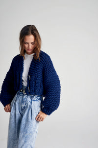 READYMADE-Cropped Fisherman Cardigan - Merino - SALE