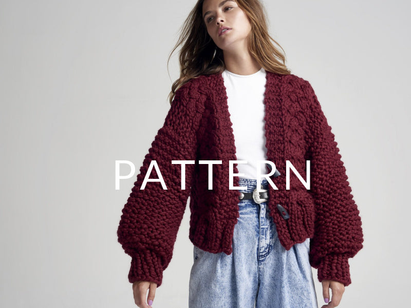 Cable Cardigan PATTERN- Merino No. 5