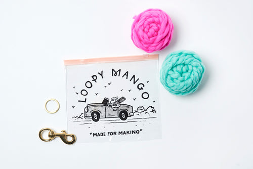 Two Pom Pom Keychain DIY Kit - Merino No. 5