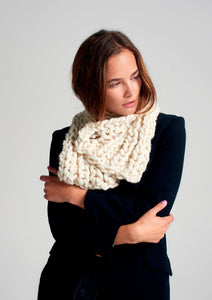 DIY Kit - Fisherman Rib Neck Warmer - Merino No. 5