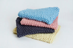 DIY Kit - Moss Stitch Blanket - Merino No. 5