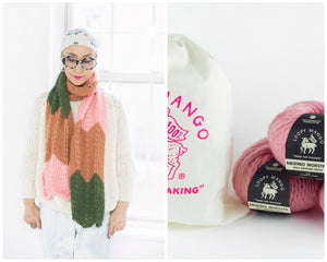 DIY Kit - 3 Color Chevron Scarf - Dream (Merino Worsted)