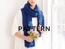 Load image into Gallery viewer, Summer Moss Stitch Scarf- PATTERN - Big Cotton
