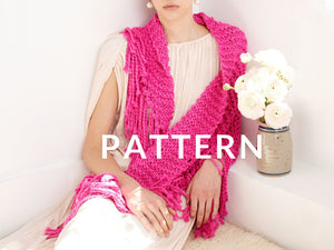Summer Fringe Shawl- PATTERN - Big Cotton