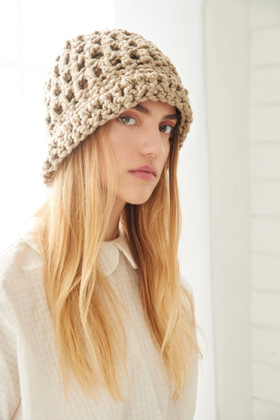 Summer Crochet Beanie - Cotton