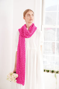 Summer Moss Stitch Scarf- PATTERN - Big Cotton