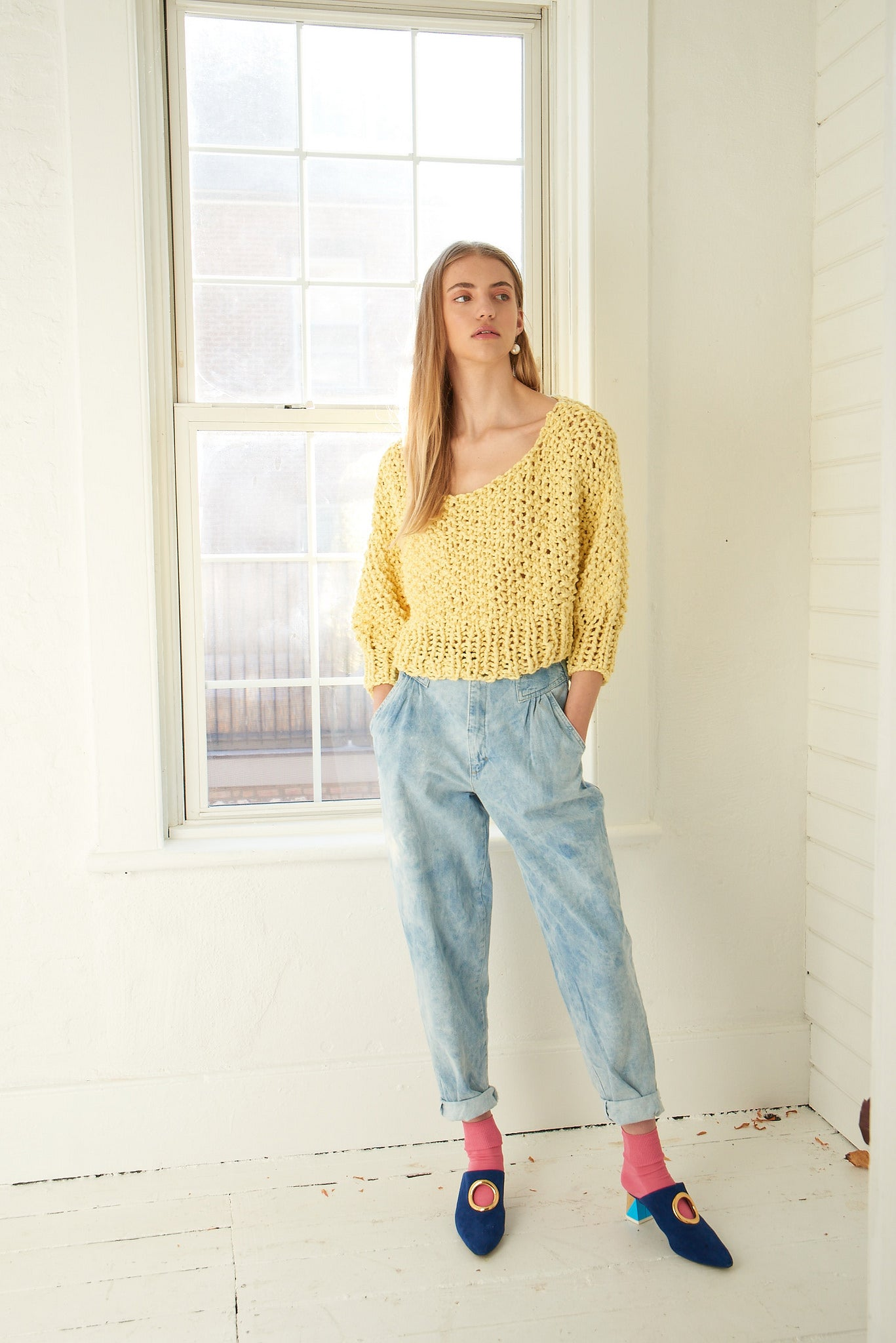 Super Cropped Sweater - Cotton