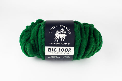 DISCONTINUED COLOR - Big Loop Mini Merino Wool - Deep Forest Green