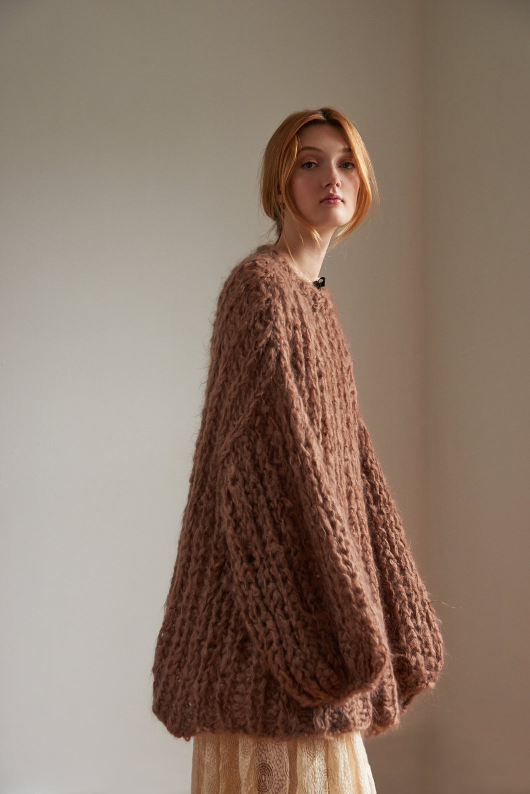 Fisherman Rib Sweater - Mohair