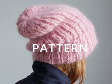 Load image into Gallery viewer, Slouchy Beanie- PATTERN - Mohair So Soft