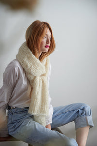 DIY Kit - Stockinette Scarf - Mohair So Soft