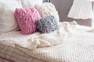 DIY Kit - Square Fringe Pillow Case - Big Cotton