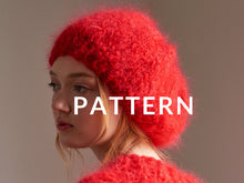 Load image into Gallery viewer, Mohair Beret- PATTERN - Mohair So Soft