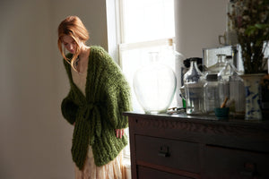 DIY Kit - Fisherman Rib Cardigan - Mohair So Soft