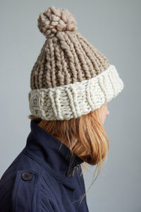 DIY Kit - Two Tone Pompom Beanie - Merino No. 5