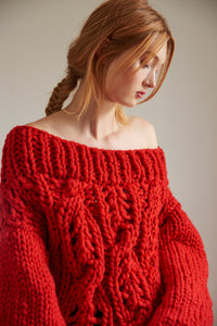 Off the Shoulder Sweater - Merino