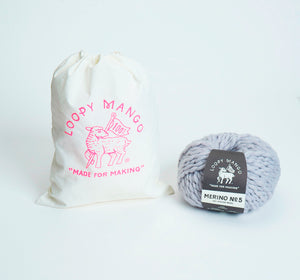 DIY Kit - Mini Pompom Beanie 5-8 years - Merino No. 5