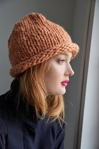 Loopy Mango DIY All You Knit Kit Cafe Con Leche My First Hat