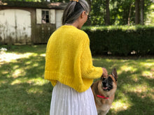 Load image into Gallery viewer, Rhinebeck Cardigan PATTERN- Dream (Merino Worsted)