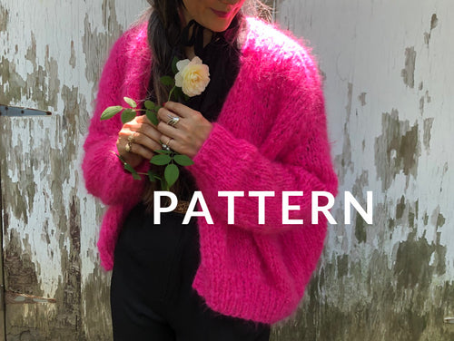 Rhinebeck Cardigan PATTERN- Mohair So Soft