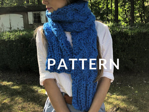 My First Cable Scarf PATTERN - Merino No. 5