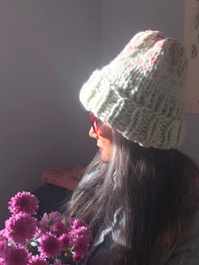 DIY Kit - Edelweiss Hat with 2 colors - Merino No. 5