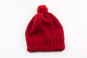 DIY Kit - Worsted Pompom Beanie - Merino Worsted