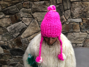 DIY Kit - Aviatrix Two-Tone Pom Pom Hat - Merino No. 5